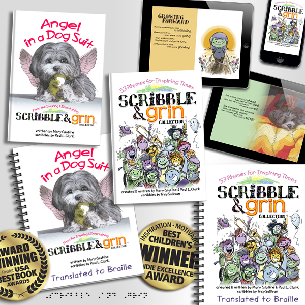 Pile of Scribble & Grin Books & eBooks